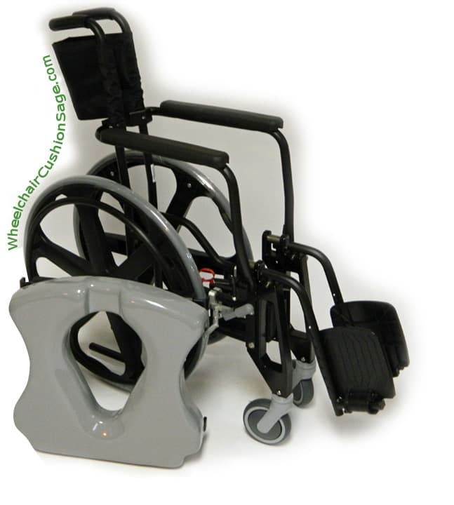 ActiveAid Shower Commode Wheelchair Shadow 9000 Folded