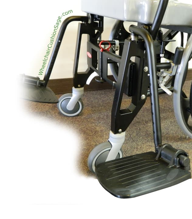 ActiveAid Shower Commode Wheelchair Shadow 9000 Footrest