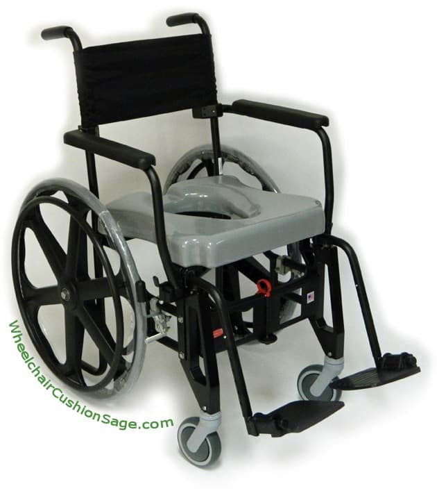 ActiveAid Shower Commode Wheelchair Shadow 9000 Unfolded