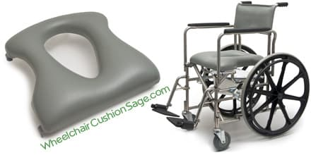 E and J Rehab Shower Commode Wheelchair