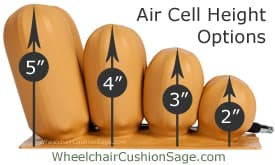 Star Cushion Air Cell Height Options