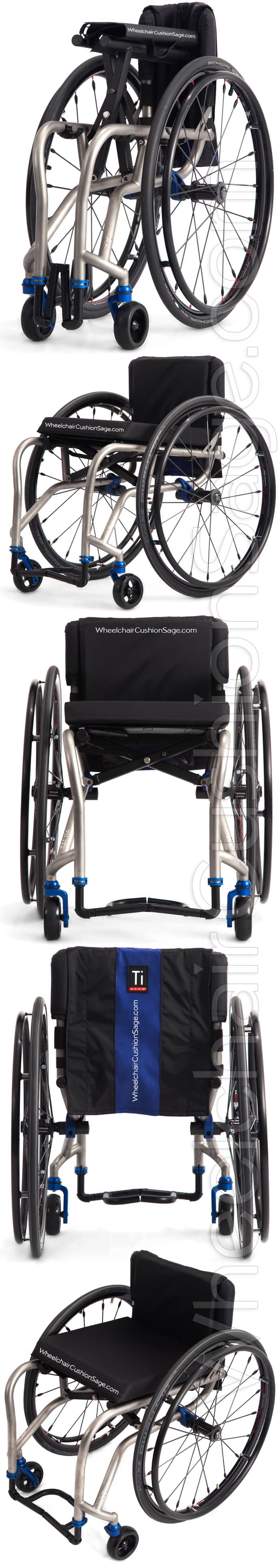 TiLite TX2 Wheelchair Views - Folded, Right, Front, Back, Top